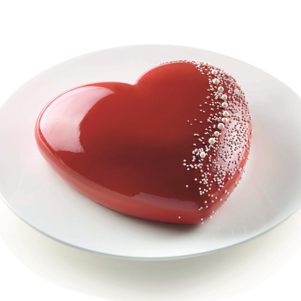 poze Formă tort, din silicon, model inimă 3D, ReTaste