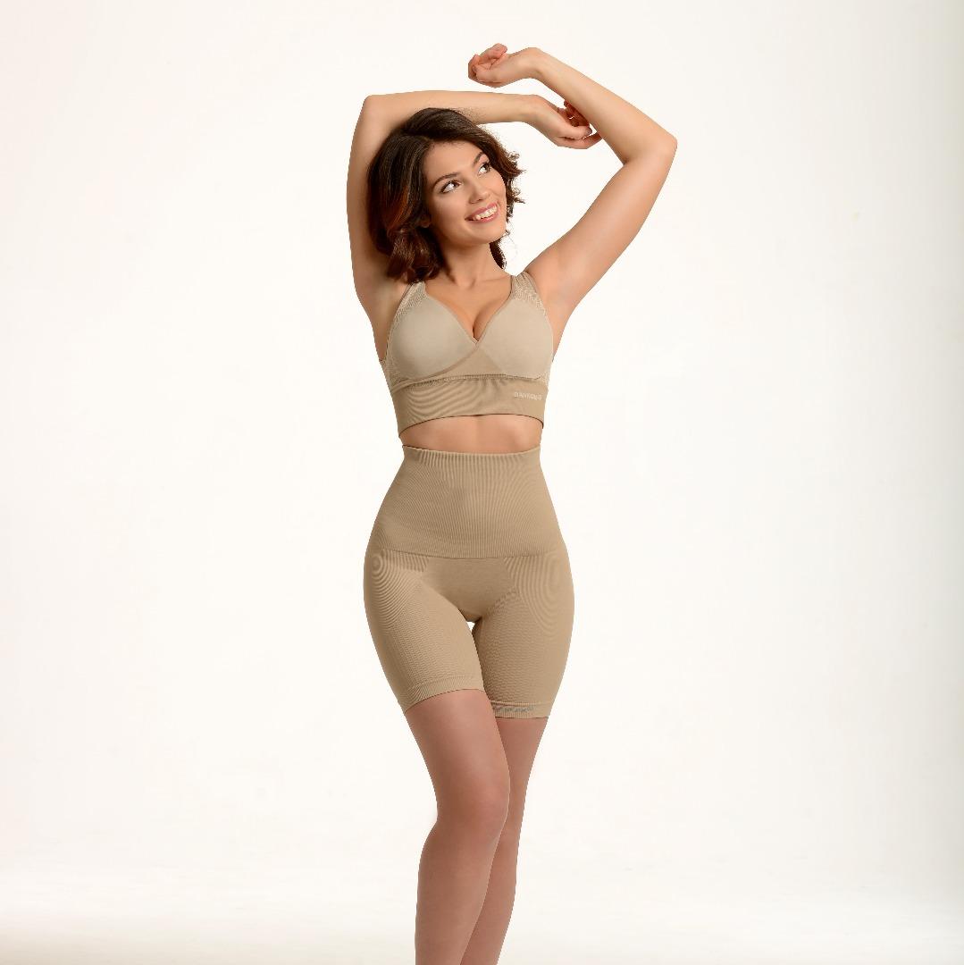 poze SANKOM, pantaloni scurți modelatori cu talie înaltă