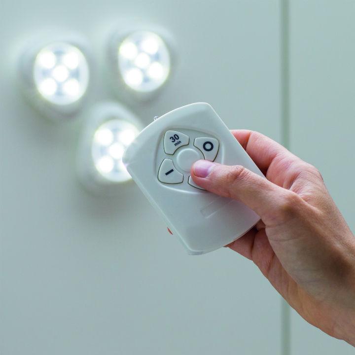 poze Set 3 spoturi LED cu telecomandă Tri Bright