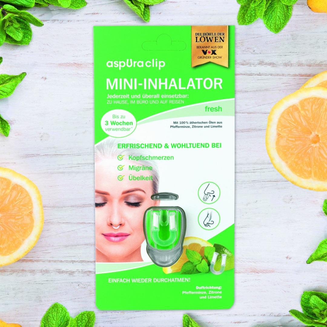 poze Mini inhalator cu uleiuri esențiale aspUraclip Fresh