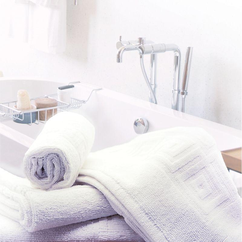 poze Prosop hotelier, 50x90 cm, alb cu model grecesc 500 gr/mp, Luxury Cotton Towel