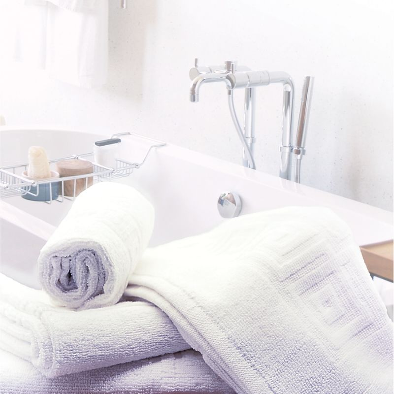 poze Prosop hotelier, 70x140 cm, alb cu model grecesc 500 gr/mp, Luxury Cotton Towel