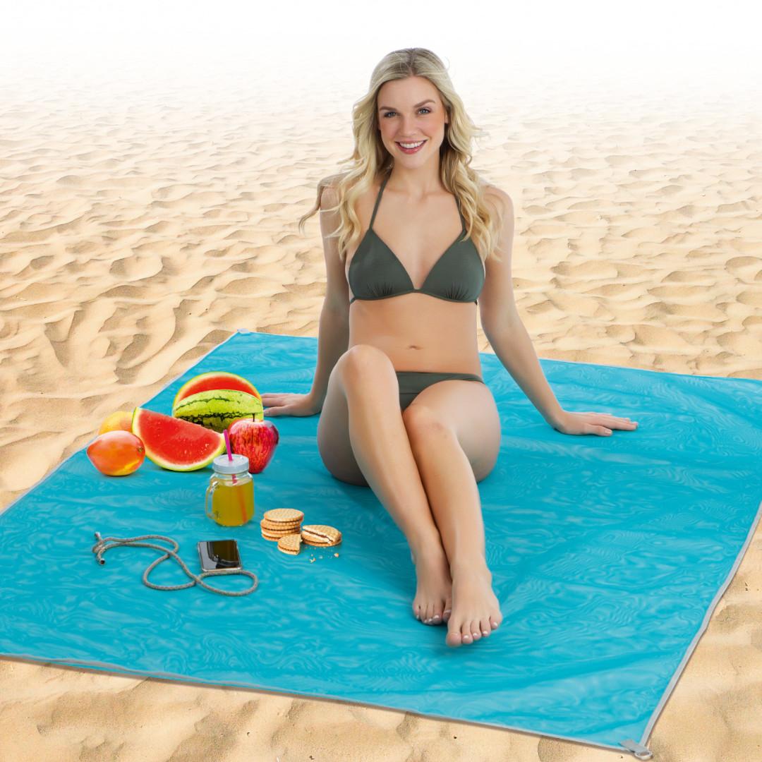 Patura De Plaja Anti Nisip, 150 X 200 Cm, Sand Free Mat